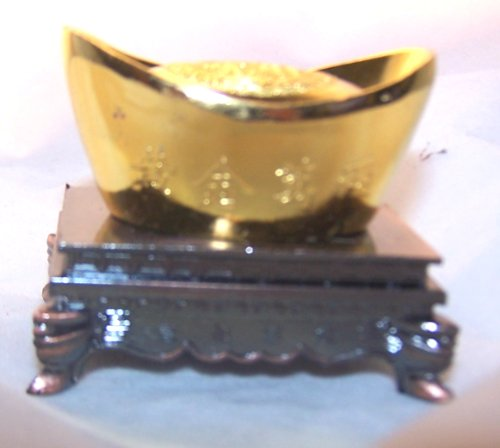 Golden Chinese Ingot Asian Home