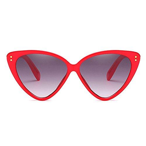 Sunglasses Vintage Sunglasses Eye Eyeglasses C1 Highdas Triangle Cat Mujeres Stylish 85UZY8W