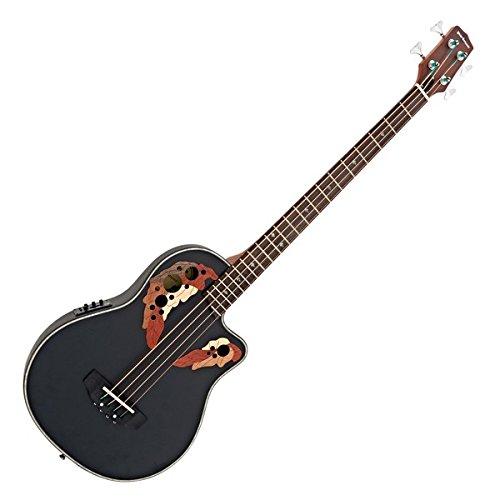 Roundback Electro Acoustic Bass Guitar by Gear4music Black: Amazon.es: Instrumentos musicales