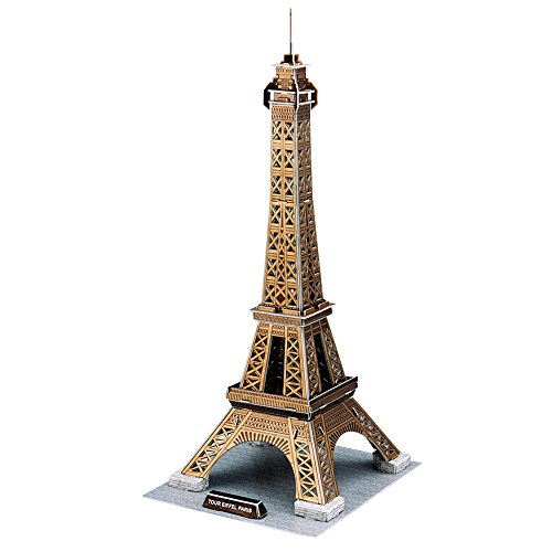 CubicFun Mini Great Architectural Paris 3D Puzzle Model Toy kits& Craft,Eiffel Tower 71 (Eiffel Tower Crafts)