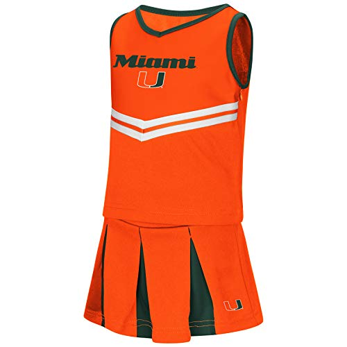Colosseum NCAA Toddler-Girls Team Cheer Set-Miami Hurricanes-3T -