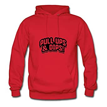 X-large Women Pull_ups_dips_cy1 Lightweight Customized Red Cotton Sweatshirts