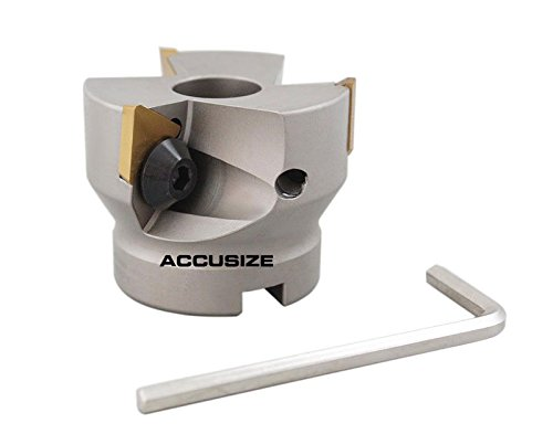 AccusizeTools - 2'' Indexable Face Shell Mill 90°, Positive Rake with TPG322 Inserts, #3508-0012 (Mill Shell Face)
