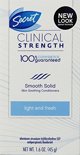 Secret Deodorant Clinical Strength Light Fresh 1.6oz Box (2 Pack)