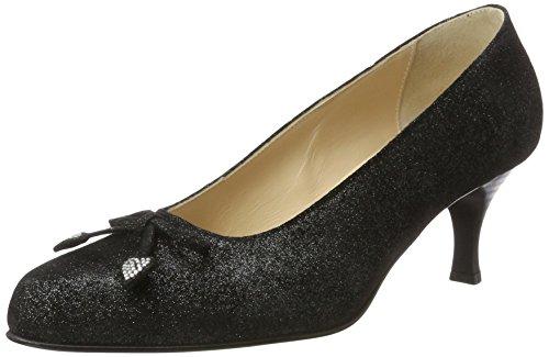 Diavolezza Anna, Zapatos con Tacón para Mujer Negro (Black)