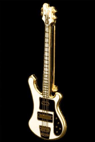 Electric Bass Guitar Pin - White