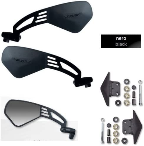 Par de Espejos retrovisores Far Viper 9 Jagher Ultra Planos para Manillar homologado 7334+7335 Compatible con Yamaha T-MAX Black MAX 530 2012-2014 Kit de Montaje espec/ífico G18BB7047D+S.