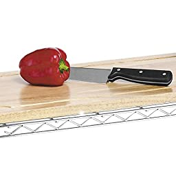 Whitmor Supreme Kitchen Bakers Rack, Wood & Chrome