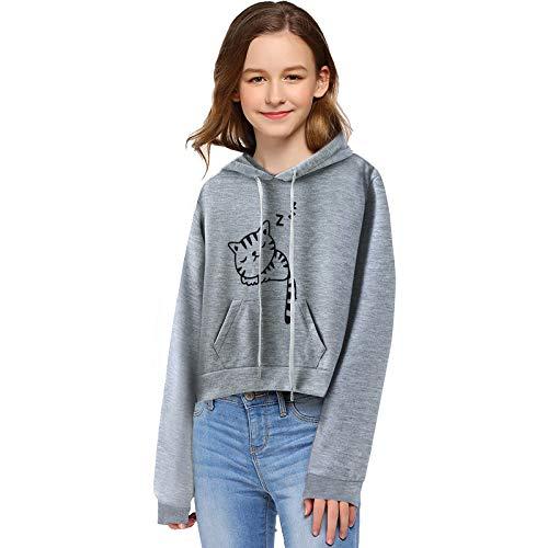 NBAA Kinderen baby meisjes kattenoren capuchon schattige kat print dikke jas sweatshirt trui winter warme eenvoudige…