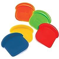 "Norpro My Favorite Colored Scraper   Size 3"" x 3"" x .5""   4-Count Assorted Colors"
