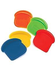 "Norpro My Favorite Colored Scraper | Size 3"" x 3"" x .5"" | 4-Count Assorted Colors"