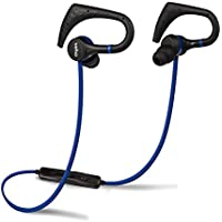 Veho Zb-1 Wireless Bluetooth In-Ear Sports Headphones   Sports Hook   Microphone   Remote Control   Flex Anti-Tangle Cable - Blue (VEP-007-ZB1) Headphone