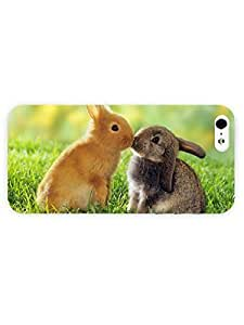 3d Full Wrap Case for iPhone 5/5s Animal Bunny Love