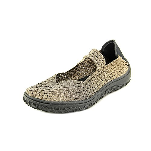 Corkys Womens Liz Fashion Woven Flats Shoes Gold