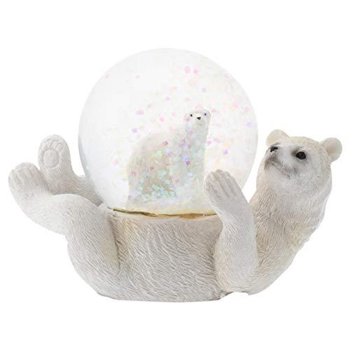- Elanze Designs White Polar Bear Mommy and Cub Figurine 45MM Glitter Water Globe Decoration
