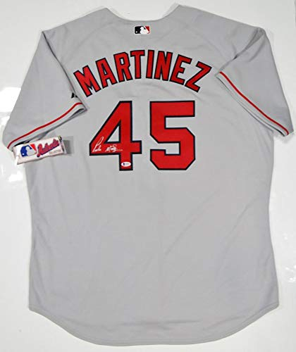 Pedro Martinez Autographed Grey Boston Red Sox Majestic Jersey- Beckett Auth 4