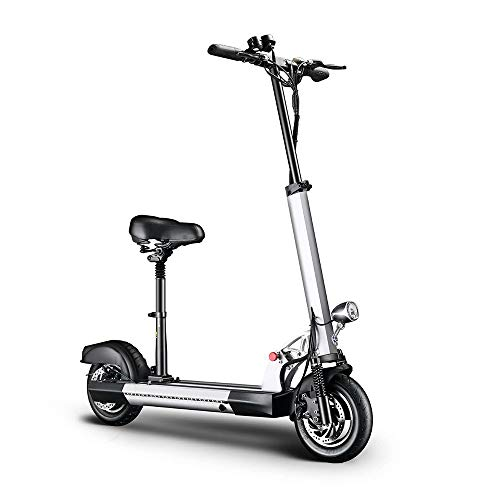Electric Scooter with Bright Front LED Easy Foldable for Kids 12 Years and Up, 25KMH, with 25-35 Km Long Distance 10'Tire,Lightweight,White