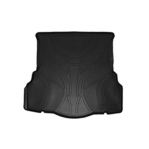 MAX LINER D0133 All Weather Custom Fit Cargo Trunk Liner Floor Mat Black for 2013-2019 Ford Fusion - No Hybrid or Plug-in Models