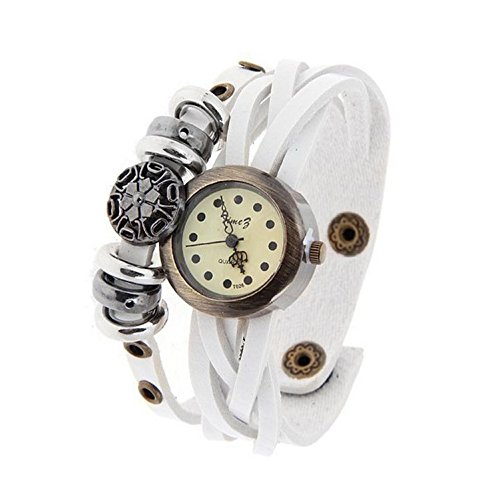 Relojes de Blanca relojes relojes personalizados femenina reloj punky retro bobinado: Amazon.es: Relojes