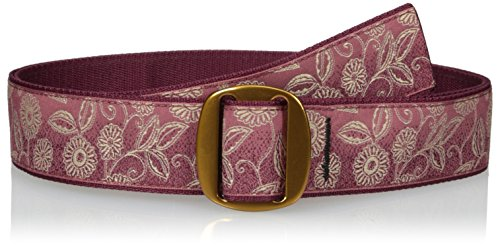 Ladies Cbr - Bison Designs Women's Manzo Belt with Anodized Aluminum Buckle, Cabernet, Small/34-Inch