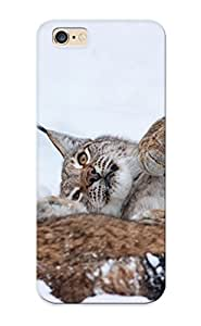 Guidepostee Anti-scratch And Shatterproof Big Cats Lynx Glance Snow Snout Winter Phone Case For Iphone 6 Plus/ High Quality Tpu Case