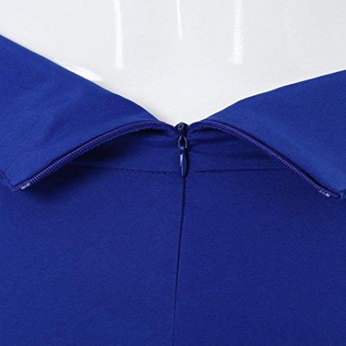 Con Lino Retro Lino donna Donna l'arte Boemia Stampa Midi Cintura Gonna Letteratura Gonna Swing gonna Casual Blu Floreale e Stile Estive CLOOM Elegante wHxXRx