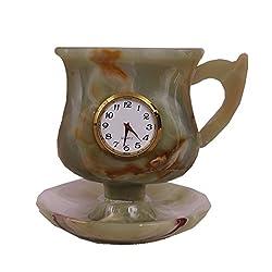 Radicaln Handmade Marble Desk & Shelf Clocks - Best Gift Items (Cup-Onyx)