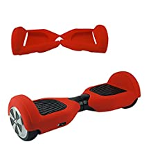 Silicone Cover for CLASSIC Beatboard Hoverboard Balance Scooter with 6.5 WHEELS Case (Red)