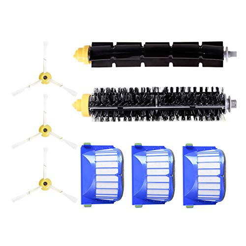 Finedayqi  Replacement Filter Brush Accessory Kit for Roomba 600 & Cleaner Robotic (Series Slat Poster)