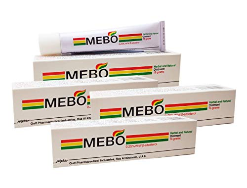 MEBO Burn Fast Relief Pain Cream Skin Healing Ointment Wound & Scar No Marks Care Fast First Aid Health Beauty Care (4 Tubes = 60 Grams) from MEBO