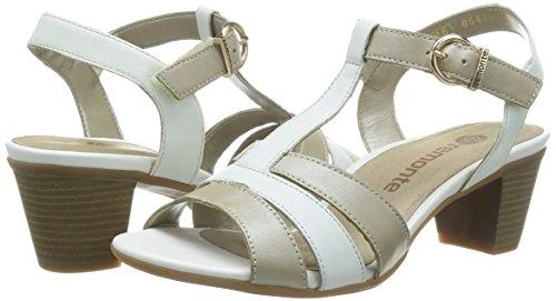 weiss weiss platin Blanc weiss Femmes weiss Sandalettes R925490 Platin nWW6U