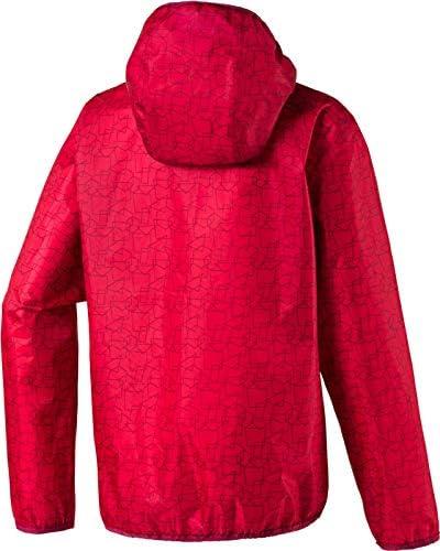 McKINLEY Litiri II Veste de Pluie pour Enfant Rouge 13-14 Ans Red//AOP//Red