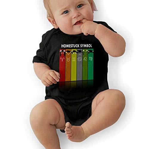Symbol Unisex Cool Newborn Baby Romper Baby BoyBodysuit 47 Black ()