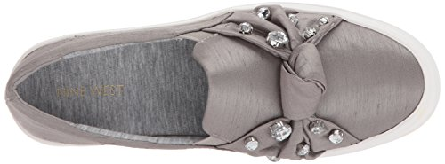Women's Flat Fabric Nine West Loafer Grey Orenda 7WqqTan86