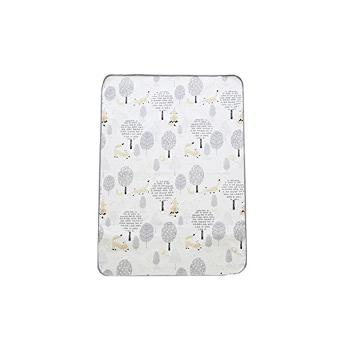 Grey Fox Urine - lolbaby Waterproof Mat - Quilted Water Absorption, Urin Changing Mat, Protector for Bed, Indoor Playgrond, Picnic, Camping, Sensitive Skin of Baby - Fox