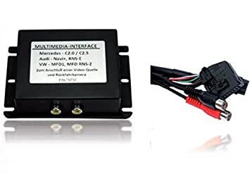multimedia interface adapter dvd video dvb t radio navigation system rh amazon co uk MFD2 RNs VW GPS Upgrade