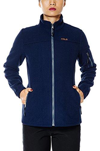 (Nonwe Women's Jacket Fleece Outdoor Solid Winter Blue S)