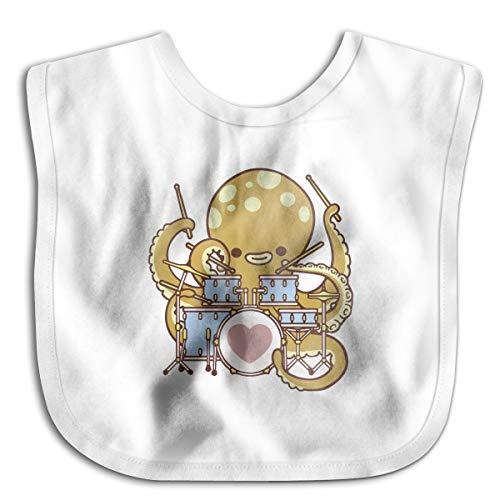 XHX Baby Octopus Drummer Saliva Towel Bibs Burp Cloths