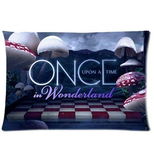 WarmHome Custom Once Upon A Time in Wonderland Home Decorative Soft Throw Pillowcase Cushion Custom Pillow Case Cover Protecter with Zipper Standard Size 20x30 Inches Two Sides Printed (Once Upon A Time In Wonderland Home)