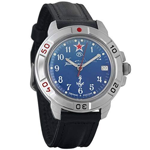 Vostok Komandirskie Military Russian Watch U-boot Submarine Blue 2414/431289 ()