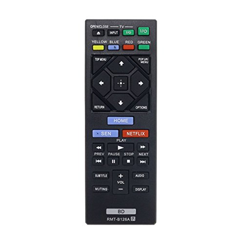 Aurabeam RMT-B126A Replacement Blu-ray Remote Control for Sony BD Bluray Player (RMTB126A / 149267811) (Sony Bdp S480 3d Blu Ray Disc Player)