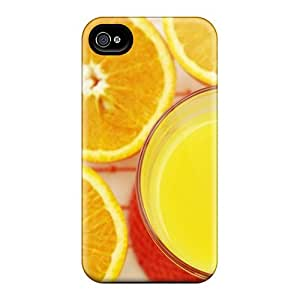 High Impact Dirt/shock Proof Case Cover For Iphone 4/4s (orange Juice)