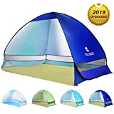 BATTOP Pop Up Beach Tent Camping Sun Shelter Outdoor Automatic Cabana 2-3 Person Fishing Anti UV Beach Tent Beach Shelter, Sets up in Seconds