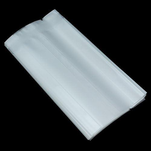半透明包装袋 食品貯蔵袋 ポリ袋ストッカー キッチン収納 マットな質感 半透明ポリバッグ オルガンバッグ ヒートシール ノッチ付きバッグ 大豆 コーヒー豆 耐油性 砂糖漬けフルーツ キャンディー用 5.5 x 12 + 2 cm (300)