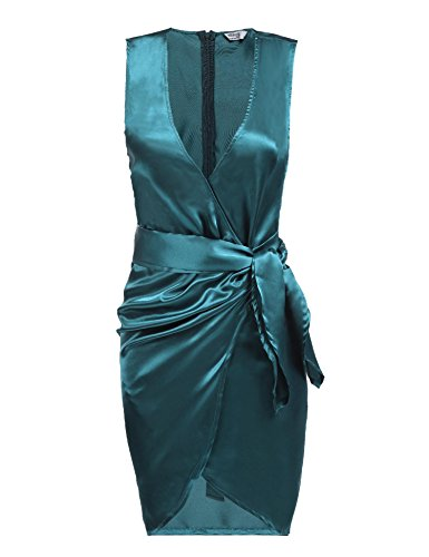 Silk V-Neck Wrap Dress - 9