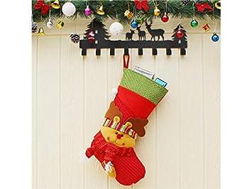 Calcetines de Navidad Elk no Tejidos Bolsa de Caramelos Bolsa árbol de Navidad Colgante Idea para la Fiesta de Navidad: Amazon.es: Hogar