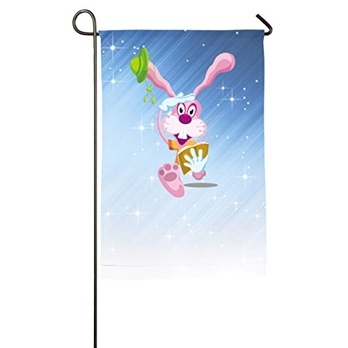 FOOOKL Cartoon Rabbit Home Family Party Flag 100 Hipster Welcomes The Banner Garden Flags