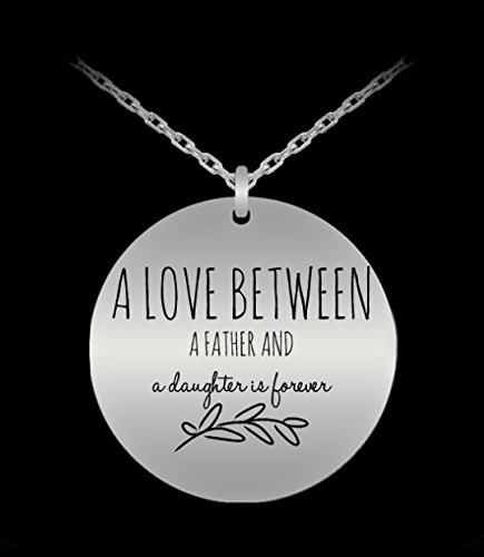 Etsy Star Wars Costumes - Dad Daughter Necklace - Love Forever - Jewelry Gift Charm From Father - Silver Laser Engraved Pendant