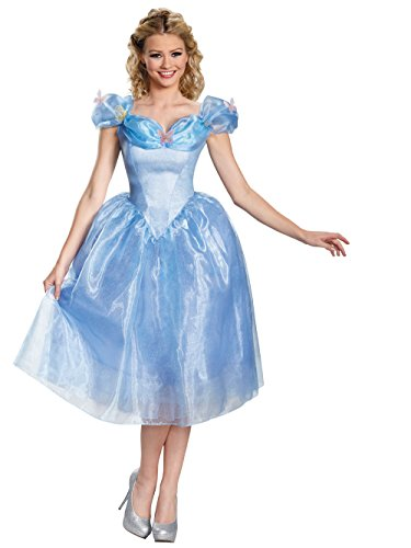 Disney Disguise Women's Cinderella Movie Adult Deluxe Costume, Blue, Small -