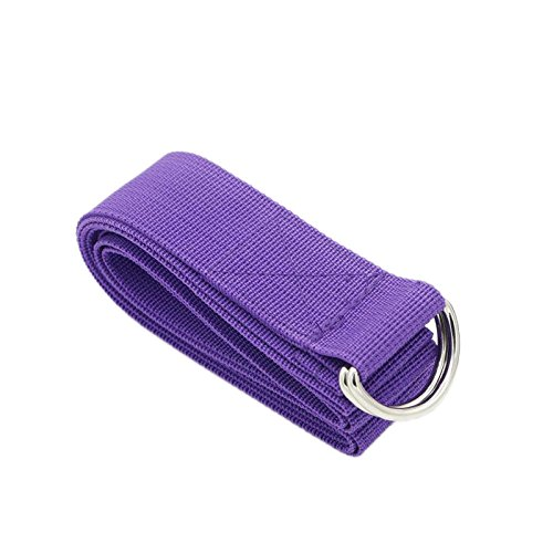 Durable Polyester-cotton D-Ring Buckle 183cm Yoga Pull Belt For Holding Poses Improving Flexibility for Stretching, General Fitness, Flexibility and Physical Therapy